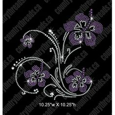 Violets and Swirls rhinestone file in various stone sizes great group to buy rhinestone files on facebook at https://www.facebook.com/groups/531056397008428/