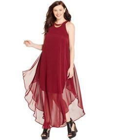 Love Squared Plus Size Layered Chiffon Maxi Dress