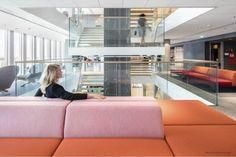 Mediamarkt hoofdkantoor Modular Furniture, Brick, Stairs, Banquettes, Space, Home Decor, Collection, Psychics, Architecture