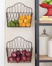 Great idea - use magazine racks to store produce.