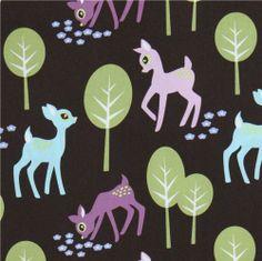 Michael Miller fabric Pet Deer deers in the forrest 1