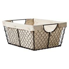 metal/locker bin style baskets.  at target - of course.
