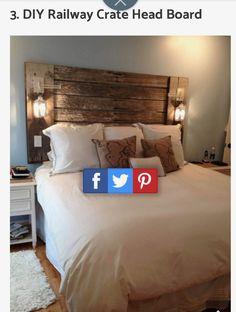 Modern Farmhouse Bedroom, Farmhouse Ideas, Headboards, Bedroom Ideas, New Homes, Furniture, Home Decor, Head Boards, Decoration Home