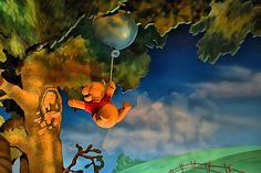 """From the classic style Fantasyland dark ride attraction - """"The Many Adventures of Winnie the Pooh"""" at the Magic Kingdom of Walt Disney World in Orlando, Florida."""