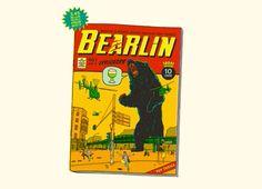 bearlin is very thirsty, threadless tee.