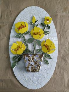 Mosaic Flowers, Mosaic Crafts, Coasters, China, Garden, Fit, Color, Mosaic Artwork, Club