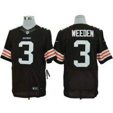 0562c2cdc ... Nike Brandon Weeden Jersey Elite Team Color Brown Cleveland Browns 3  women Cleveland Browns ...