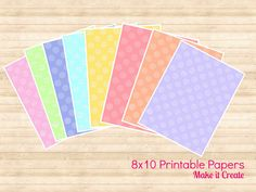 Easter Spring Printable papers