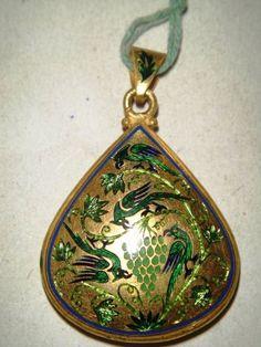 Gold enamel pendant by kamal kumar meenakar ( National Awardee )
