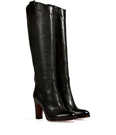 Stylishe Stiefel aus feinem, schwarzem Kalbsleder von L'Autre Chose #Stylebop