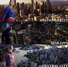 Superheroes's home cities