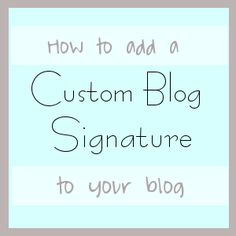 How to add a Signature or In-post ad in Blogger