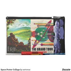 Space Poster Collage Wristlet Purse