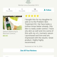 Review for my Sebum Balancing Blemish Control Problem Skin Serum which is a great add on to the Problem Skin Basic Treatment Kit for $85 and comes with the Problem Skin Ultra Treatment Kit. All skin care regimes are 15% off with cold BEAUTY