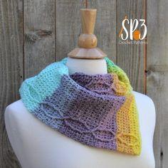 Corner Cable Drape Cowl Crochet Pattern ~ Sweet Potato 3