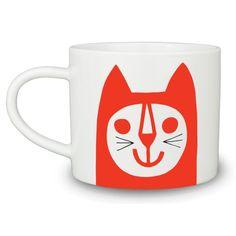 """Mug chat coloré """"happy""""  http://www.homelisty.com/cadeaux-deco-amoureux-chats/"""