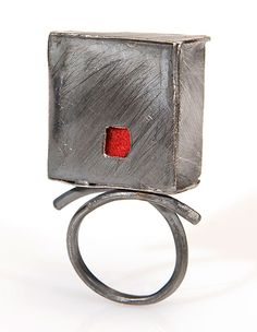 Poly Nikolopoulou Ring: Treehouse Silver, felt