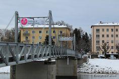 Salzburg, Salzach, Brücke zum Mirabell-Garten