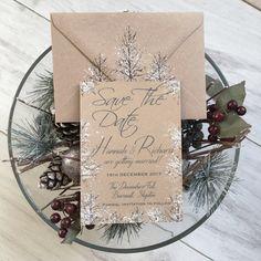 Winter Wedding, Winter Save The Date, Winter Wedding by QuaintlyKate #winterwedding #winterweddingsavethedate #rusticwinterwedding