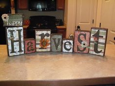 Our Little Life...: Happy Harvest and Family Blocks