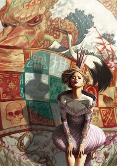 Ignasi Monreal Illustration - It's only a game!    Alexander McQueen S/S 2005. Inspired by great artist Jon Foster. 2012