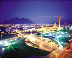 Monterrey at night