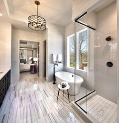 Master Bathroom with large tub