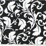 Black white fabric, Black and white floral fabric, 1 yd black floral fabric. $7.50, via Etsy.