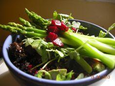 Simple Asparagus and Beet Salad Healthy salads, Vegan,  Chef Nicole Forster www.savouryfoods.ca Beet Salad, Healthy Salads, Beets, Celery, Asparagus, Green Beans, Vegan Chef, Vegetables, Kitchen