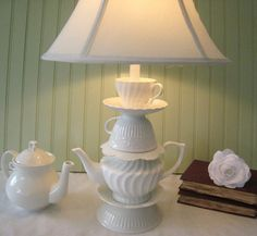 teacup lamp, now that I've rewired several lamps..I could make this?