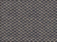 Tissus japonais, Seigaiha bleu AD1204c est une création orginale de kiseki sur DaWanda