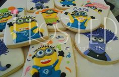 Minion cookies by Frosted