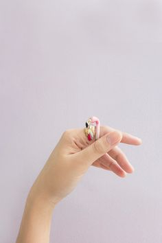 Flamingo Ring by GOODAFTERNINE on Etsy https://www.etsy.com/no-en/listing/215485041/flamingo-ring