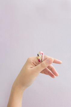 Flamingo Ring by GOODAFTERNINE on Etsy https://www.etsy.com/no-en/listing/215485041/flamingo-ring