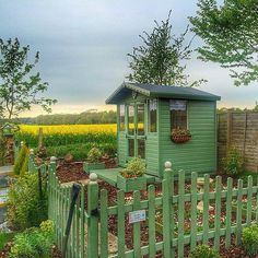 Get more inspiration for your very own She Shed Check out plans that you can do yourself or give to a builder at www.justgarageplans.com