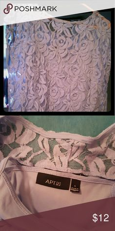 Lavender Lace Top Super cute sleeveless lace lavender top. Worn once. No tears or stains. Apt. 9 Tops