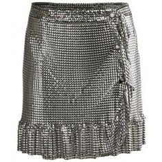 Ruffled Chainmail Mesh Skirt