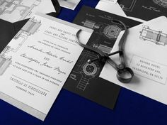 Tesla Wedding Invitation Suite by AthenaNAphrodite on Etsy