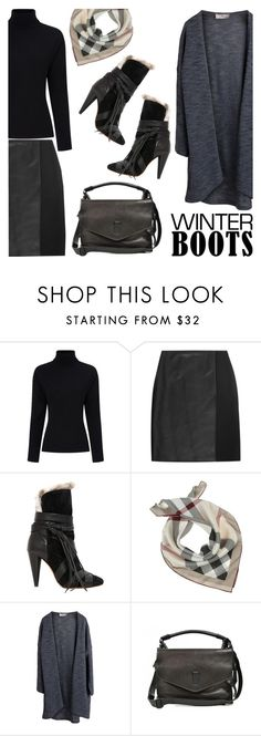 """733. Awesome Winter Boots"" by zaandupreez ❤ liked on Polyvore featuring Preen, Fendi, Isabel Marant, Burberry, Pieces, Gryson and winterboots"