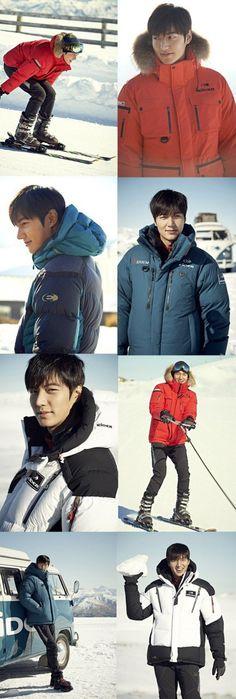'Eider' release still cuts of Lee Min Ho from his winter CF   allkpop.com
