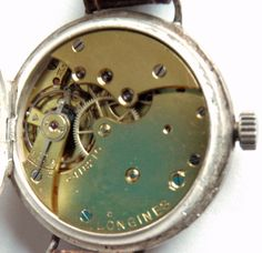 Silver case Longines movement cal.13.34  around 1916