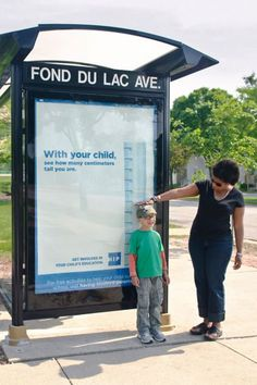 COA's HIP Program (Having Involved Parents): Bus stop measure