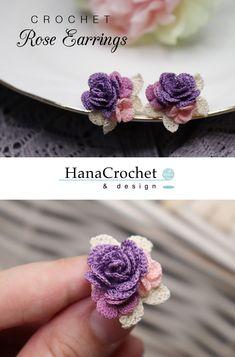 Crochet Flowers Design Make your own wedding jewelry that match your wedding bouquet. Get the full tutorial here Diy Crochet Rose, Crochet Puff Flower, Crochet Flower Patterns, Thread Crochet, Crochet Flowers, Knit Crochet, Crochet Hats, Crochet Bouquet, Crochet Animals