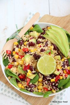 Mexicaanse couscous salade - Mind Your Feed - Mexicaanse couscous salade - Veggie Recipes, Lunch Recipes, Mexican Food Recipes, Salad Recipes, Vegetarian Recipes, Cooking Recipes, Healthy Recipes, Healthy Diners, Lunch Restaurants