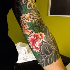 Japanese Style Arm Tattoo Design http://tattooideas22.com/japanese-style-arm-tattoo-design/