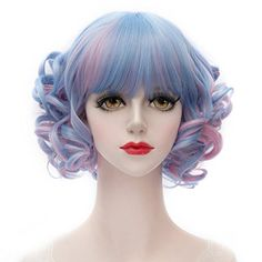 MQ Cosplay Wig COS Lolita Short Curly Wave Hair