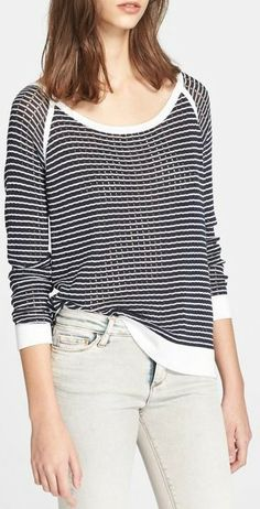 Rag & Bone 'Arianna' Raglan Pointelle Sweater