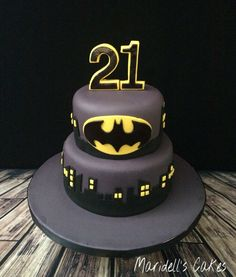 Batman 21st Birthday Cake