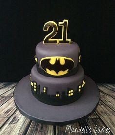 Batman 21st Birthday Cake