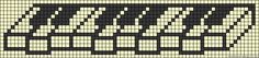 Piano perler bead pattern